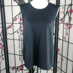 Fabletics Muscle Tee Open Back Knotted Workout Top